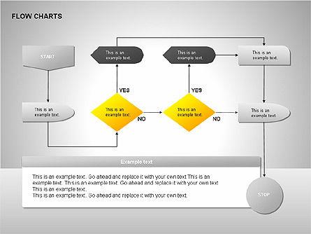 Flow Chart Tools, Slide 12, 00246, Flow Charts — PoweredTemplate.com