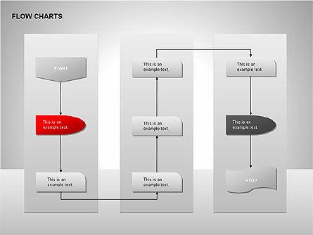 Flow Chart Tools, Slide 5, 00246, Flow Charts — PoweredTemplate.com