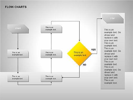 Flow Chart Tools, Slide 6, 00246, Flow Charts — PoweredTemplate.com