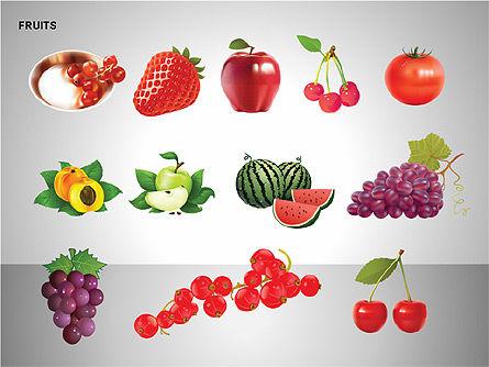 Free Fruits Collection, Slide 16, 00247, Shapes — PoweredTemplate.com