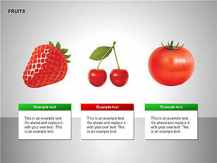 Free Fruits Collection, Slide 6, 00247, Shapes — PoweredTemplate.com