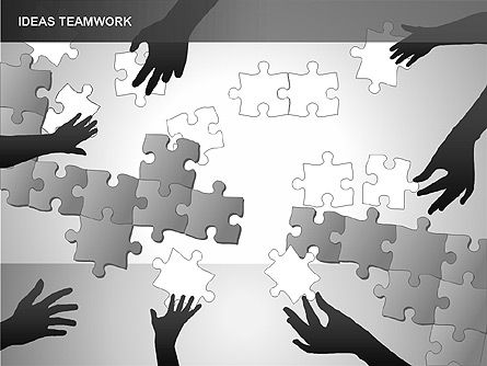 Puzzle Ideas Teamwork Diagrams, 00249, Puzzle Diagrams — PoweredTemplate.com