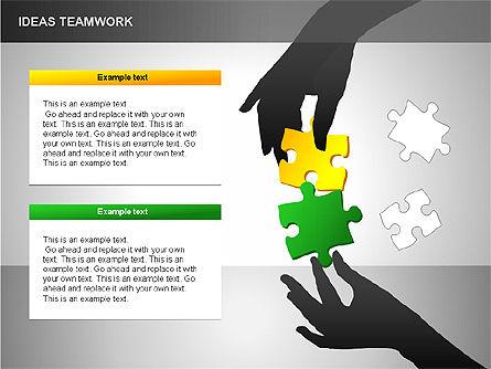 Puzzle Ideas Teamwork Diagrams, Slide 10, 00249, Puzzle Diagrams — PoweredTemplate.com