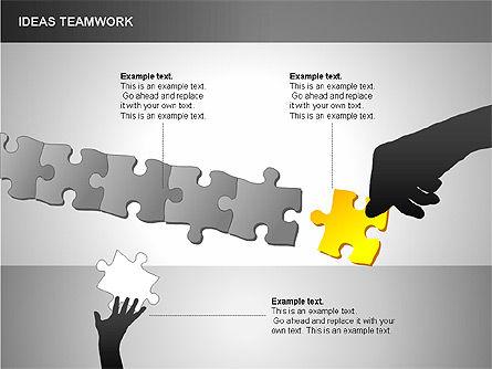 Puzzle Ideas Teamwork Diagrams, Slide 11, 00249, Puzzle Diagrams — PoweredTemplate.com