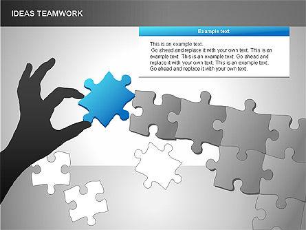 Puzzle Ideas Teamwork Diagrams, Slide 12, 00249, Puzzle Diagrams — PoweredTemplate.com