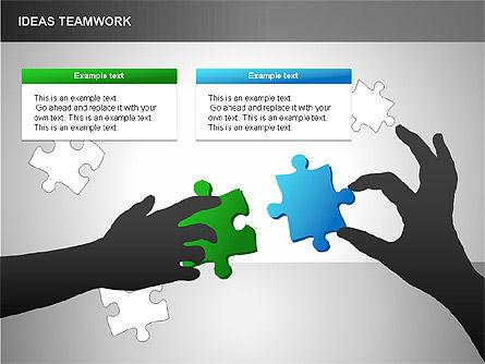 Puzzle Ideas Teamwork Diagrams, Slide 13, 00249, Puzzle Diagrams — PoweredTemplate.com