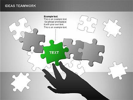 Puzzle Ideas Teamwork Diagrams, Slide 14, 00249, Puzzle Diagrams — PoweredTemplate.com