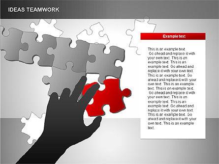 Puzzle Ideas Teamwork Diagrams, Slide 15, 00249, Puzzle Diagrams — PoweredTemplate.com