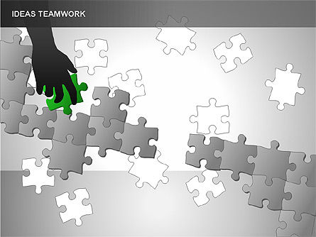Puzzle Ideas Teamwork Diagrams, Slide 2, 00249, Puzzle Diagrams — PoweredTemplate.com