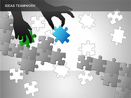 Puzzle Ideas Teamwork Diagrams, Slide 3, 00249, Puzzle Diagrams — PoweredTemplate.com
