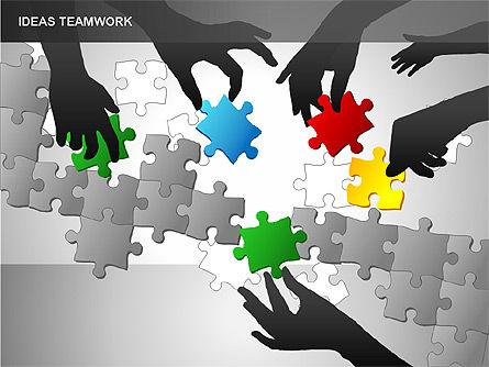 Puzzle Ideas Teamwork Diagrams, Slide 6, 00249, Puzzle Diagrams — PoweredTemplate.com