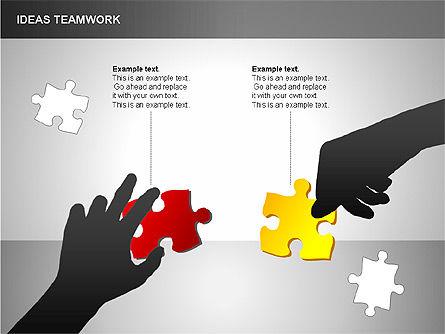 Puzzle Ideas Teamwork Diagrams, Slide 8, 00249, Puzzle Diagrams — PoweredTemplate.com