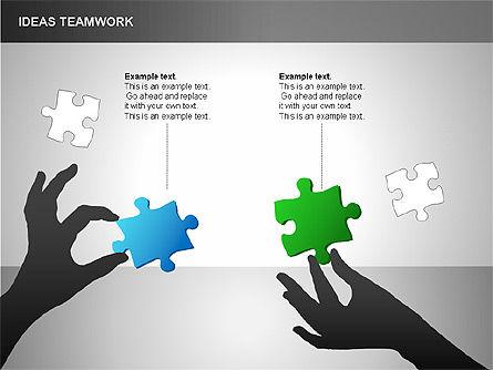 Puzzle Ideas Teamwork Diagrams, Slide 9, 00249, Puzzle Diagrams — PoweredTemplate.com