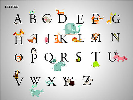 Shapes: Letters with Animals Shapes Collection #00250