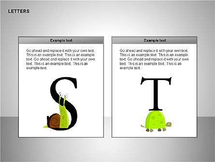 Letters with Animals Shapes Collection, Slide 11, 00250, Shapes — PoweredTemplate.com