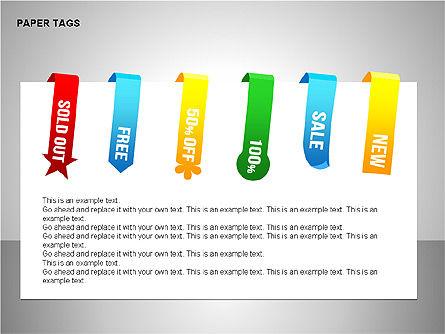 Paper Tags Diagrams, Slide 11, 00251, Text Boxes — PoweredTemplate.com