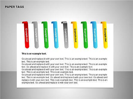 Paper Tags Diagrams, Slide 12, 00251, Text Boxes — PoweredTemplate.com
