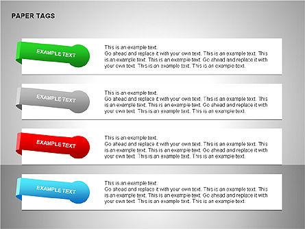 Paper Tags Diagrams, Slide 15, 00251, Text Boxes — PoweredTemplate.com
