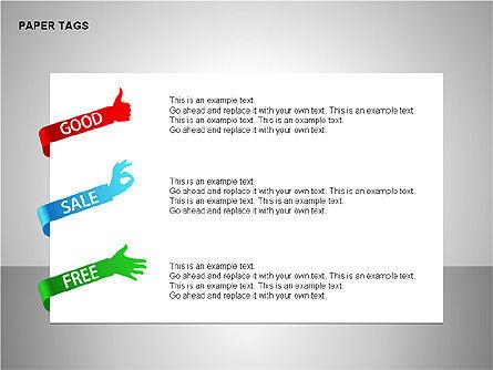Paper Tags Diagrams, Slide 16, 00251, Text Boxes — PoweredTemplate.com