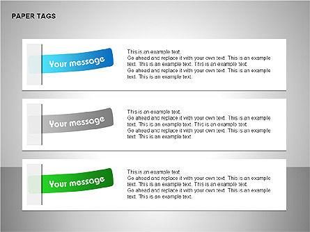 Paper Tags Diagrams, Slide 5, 00251, Text Boxes — PoweredTemplate.com