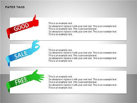 Paper Tags Diagrams, Slide 6, 00251, Text Boxes — PoweredTemplate.com