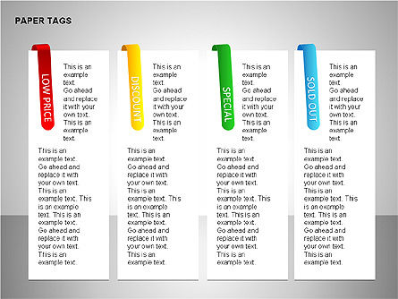Paper Tags Diagrams, Slide 7, 00251, Text Boxes — PoweredTemplate.com