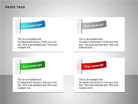 Paper Tags Diagrams, Slide 8, 00251, Text Boxes — PoweredTemplate.com