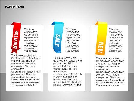 Paper Tags Diagrams, Slide 9, 00251, Text Boxes — PoweredTemplate.com
