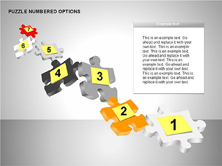 Numbered Puzzles Diagrams, Slide 11, 00253, Puzzle Diagrams — PoweredTemplate.com