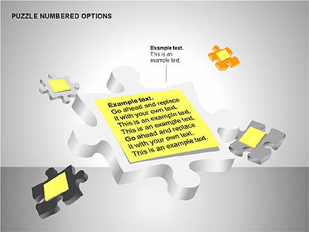 Numbered Puzzles Diagrams, Slide 12, 00253, Puzzle Diagrams — PoweredTemplate.com