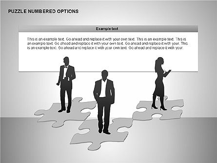 Numbered Puzzles Diagrams, Slide 14, 00253, Puzzle Diagrams — PoweredTemplate.com