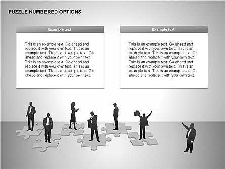 Numbered Puzzles Diagrams, Slide 15, 00253, Puzzle Diagrams — PoweredTemplate.com