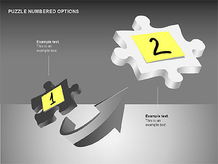 Numbered Puzzles Diagrams, Slide 2, 00253, Puzzle Diagrams — PoweredTemplate.com