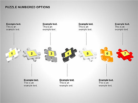 Numbered Puzzles Diagrams, Slide 4, 00253, Puzzle Diagrams — PoweredTemplate.com
