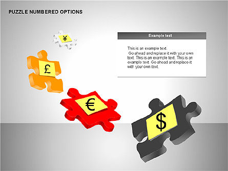 Numbered Puzzles Diagrams, Slide 5, 00253, Puzzle Diagrams — PoweredTemplate.com