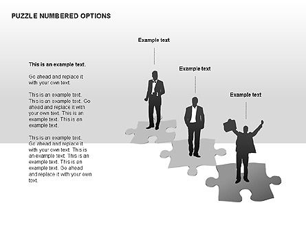 Numbered Puzzles Diagrams, Slide 6, 00253, Puzzle Diagrams — PoweredTemplate.com
