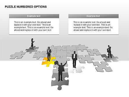 Numbered Puzzles Diagrams, Slide 7, 00253, Puzzle Diagrams — PoweredTemplate.com