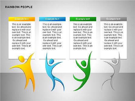 Rainbow People Diagrams, Slide 10, 00254, Shapes — PoweredTemplate.com