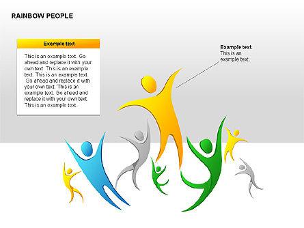 Rainbow People Diagrams, Slide 11, 00254, Shapes — PoweredTemplate.com