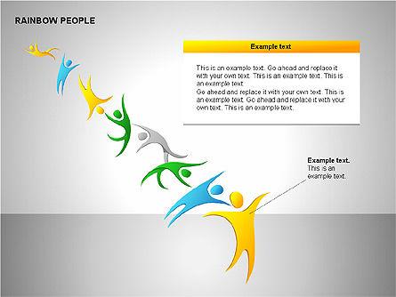 Rainbow People Diagrams, Slide 14, 00254, Shapes — PoweredTemplate.com