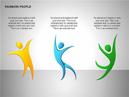 Rainbow People Diagrams, Slide 15, 00254, Shapes — PoweredTemplate.com