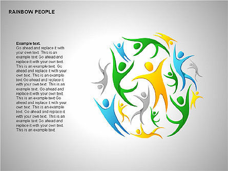Rainbow People Diagrams Slide 2