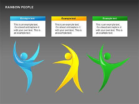 Rainbow People Diagrams, Slide 6, 00254, Shapes — PoweredTemplate.com