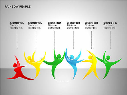 Rainbow People Diagrams, Slide 7, 00254, Shapes — PoweredTemplate.com