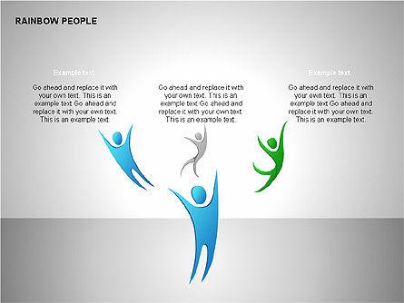 Rainbow People Diagrams, Slide 8, 00254, Shapes — PoweredTemplate.com