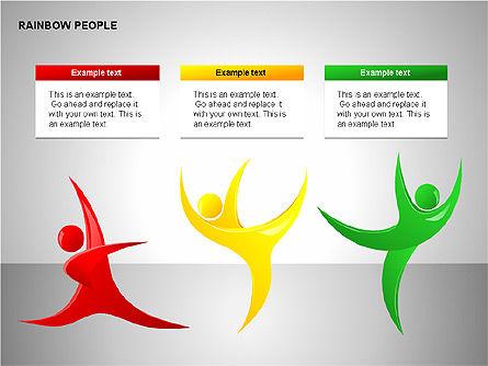 Rainbow People Diagrams, Slide 9, 00254, Shapes — PoweredTemplate.com