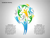 Shapes: Rainbow People Diagrams #00254