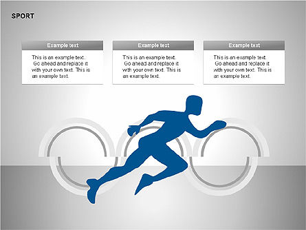 Free Sports Shapes Collection, Slide 12, 00255, Silhouettes — PoweredTemplate.com