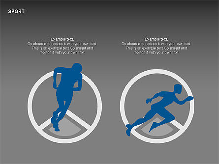 Free Sports Shapes Collection, Slide 13, 00255, Silhouettes — PoweredTemplate.com