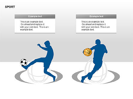 Free Sports Shapes Collection, Slide 2, 00255, Silhouettes — PoweredTemplate.com